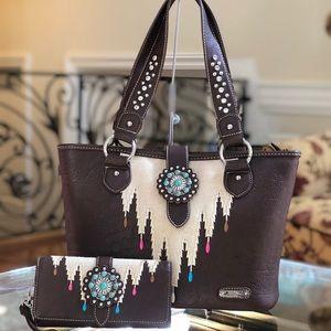 Western Montana West Indian Aztec handbag&wallet